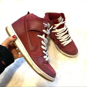 Nike SB Dunk High Pro SB Team Red Filbert sneakers